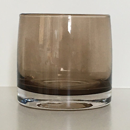 Cilinder candleholder coffee S