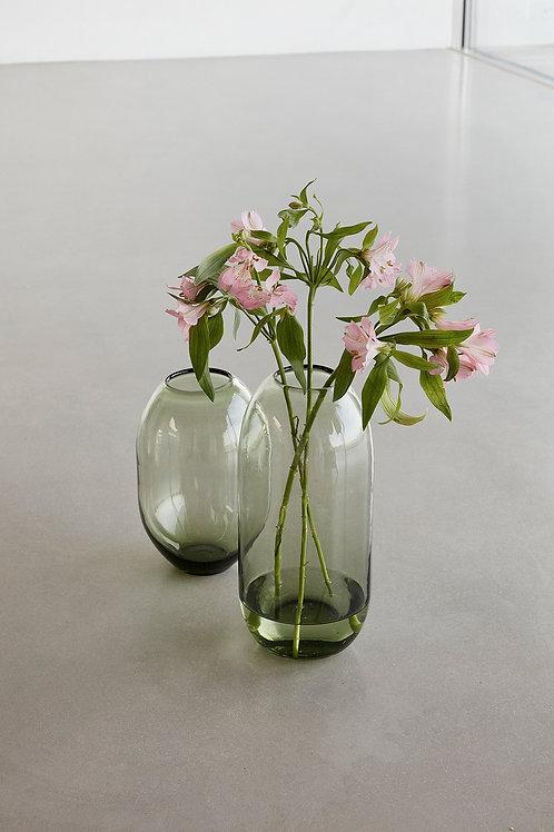 Vase, glass, green