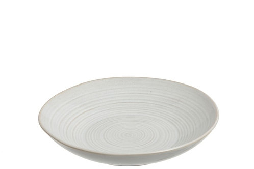 Plate deep 'Noa' porcelain white