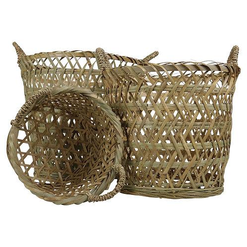 Bamboo basket round