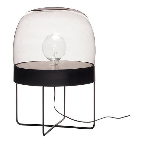 Floor lamp metal/glass, black