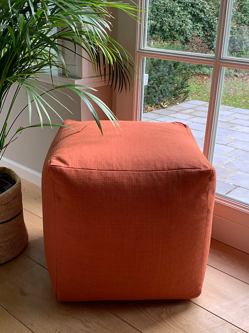 Pouf square 'Rowan Berry'