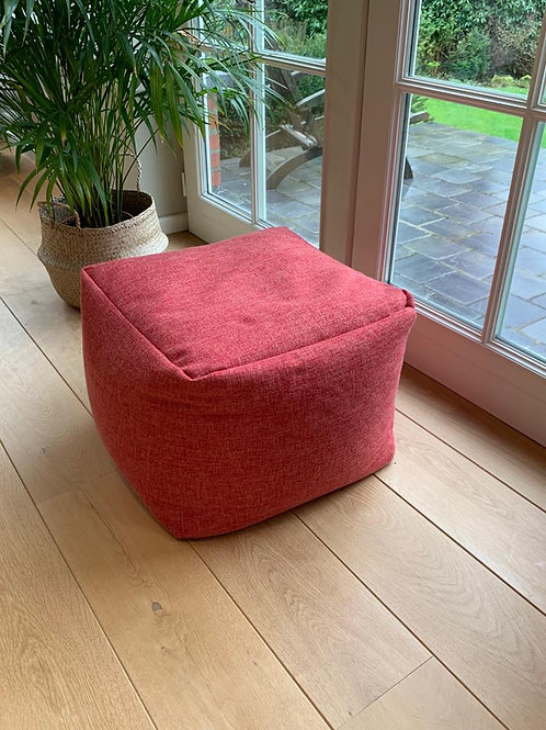 Pouf square 'Red'