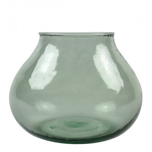 Valencia drop vase, green