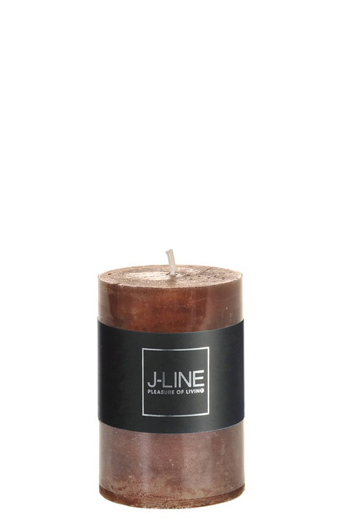 Cylinder candle brown
