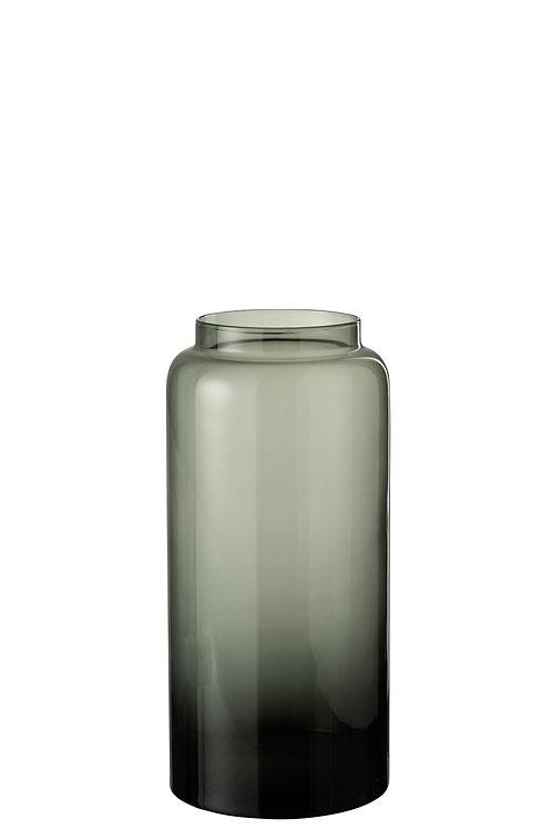 Vase, glass, grey