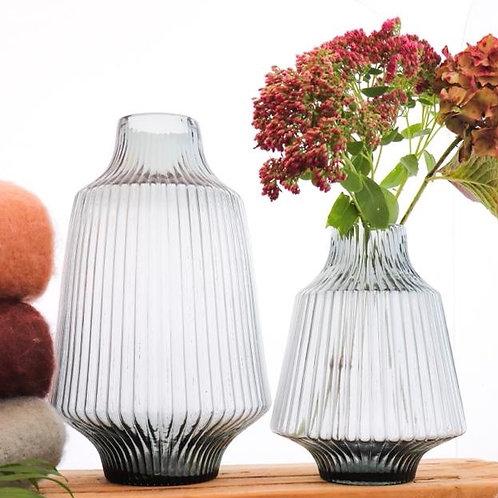 Vase, glass, grey blue