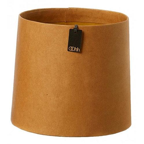Conical art pot, natural finish