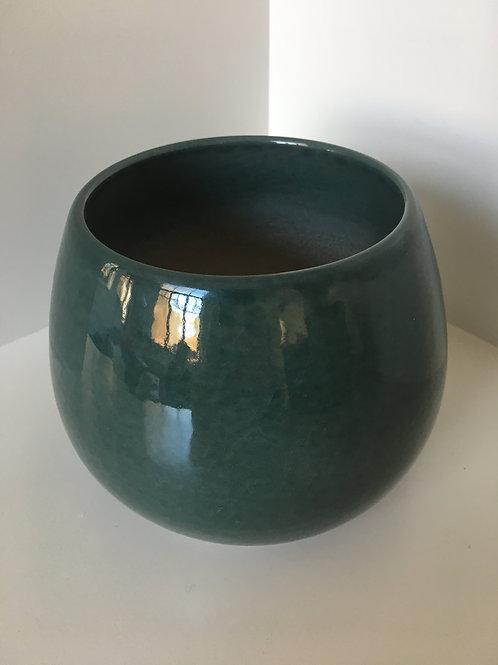 Flowerpot round ' Cielo' ceramic grey green