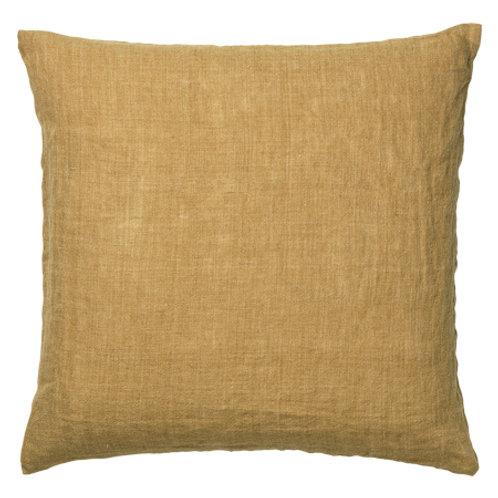 Linen cushion Curry