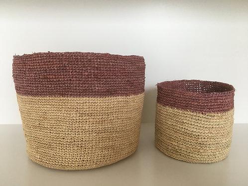 Basket Raffia 'terra' large upper line