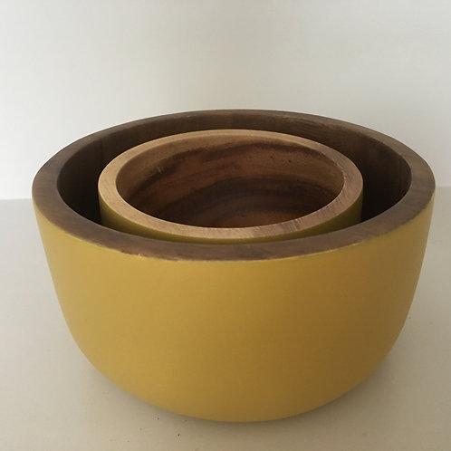 Bowl Aca round Rustic 'mustard'