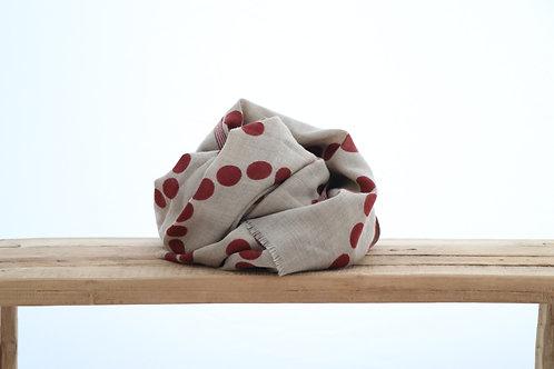 Wool scarf burgundy