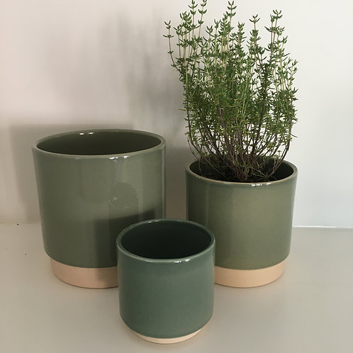 'Eno' pot dusty green