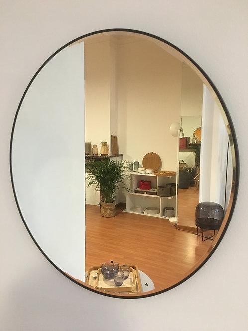 Mirror round black