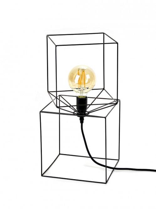 Lamp 'Trompe l'oeil' black