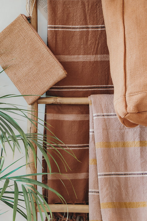 Bath towel 'Kyoto' dark caramel