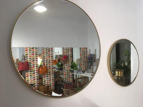 Mirror round gold