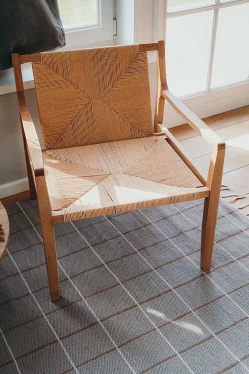 Catalina oak wood armchair