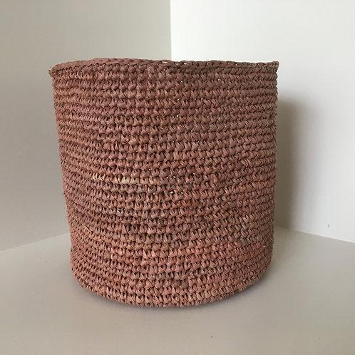 Basket Raffia 'terra' plain