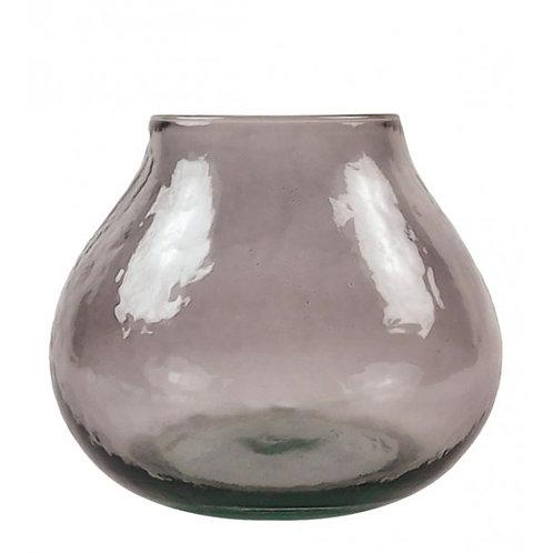 Valencia drop vase, mauve/taupe