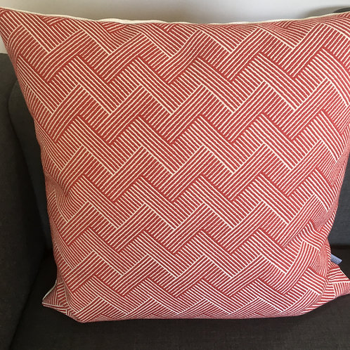 Cushion Nelson Bengal red / Pearl