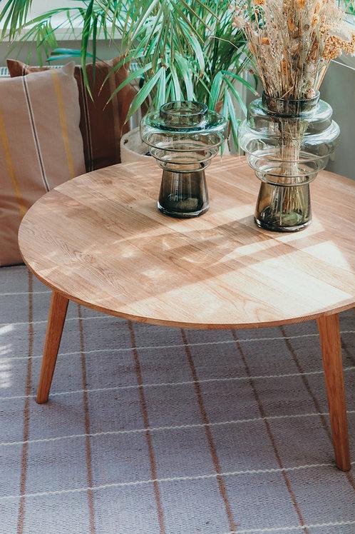 Natural oak wood table