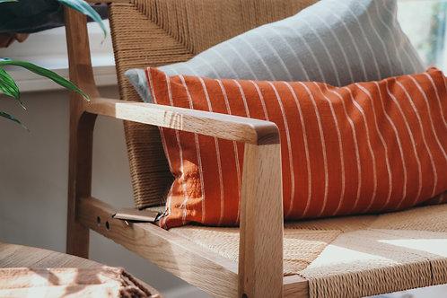 Cushion 'Kyoto' dark sienna long