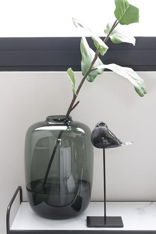 Vase 'Cleo', glass, grey