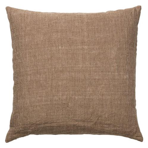 Linen cushion Mustard