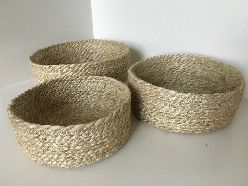 Jute twisted bread basket