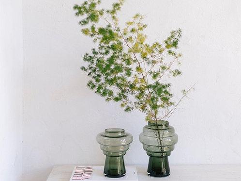 Vase Totem, glass, green
