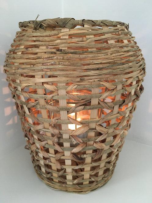 Lantern 'Sabaya', bamboo/glass, natural