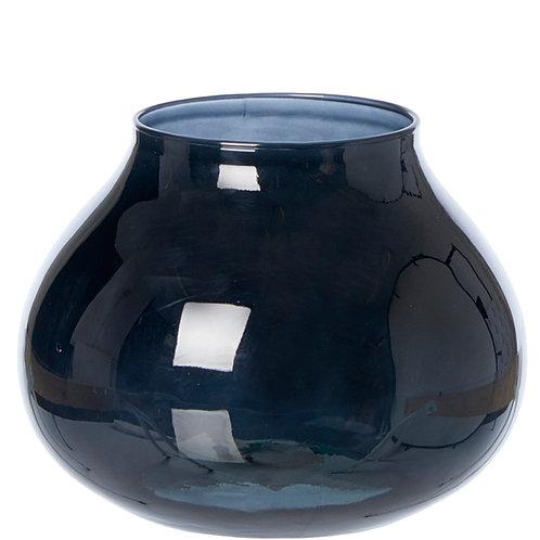 Valencia drop vase, black