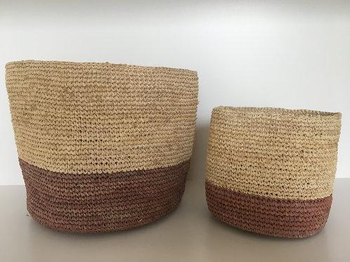 Basket Raffia 'terra' large lower line