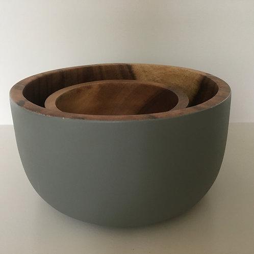 Bowl Aca round Rustic 'grey'