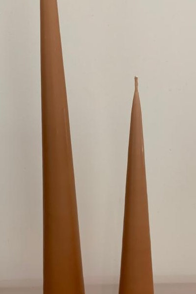 Cone candle Brown