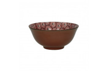 Bowl Lili Rose 'Hexagone' red