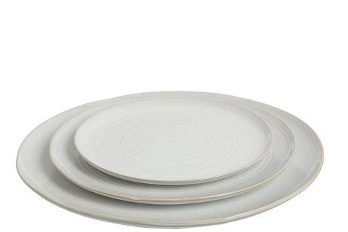 Plate 'Noa' porcelain white