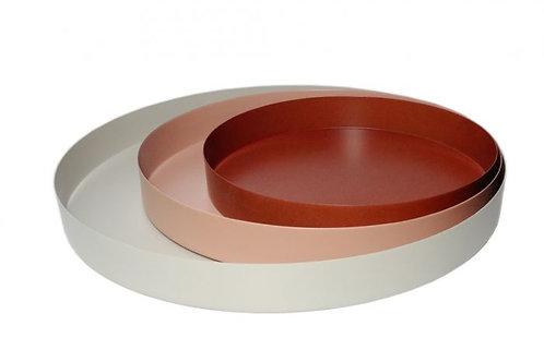 Tray, round, iron