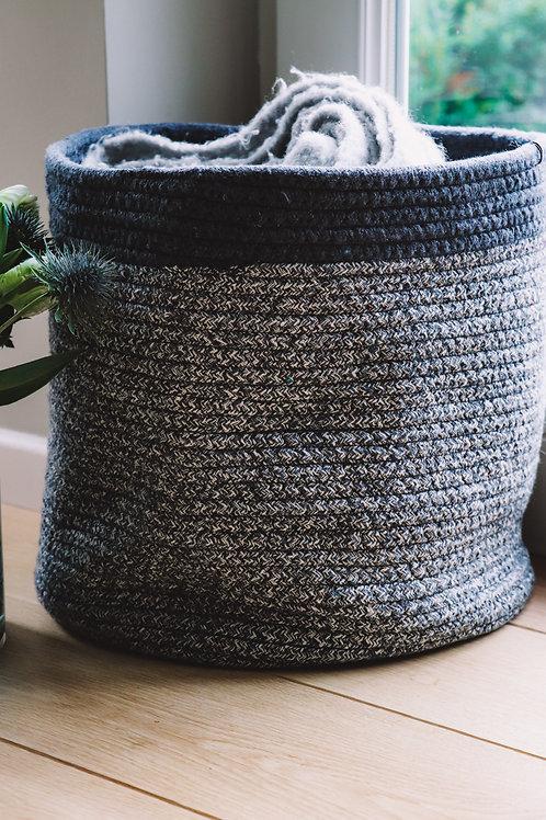 'Oackley' basket, blue