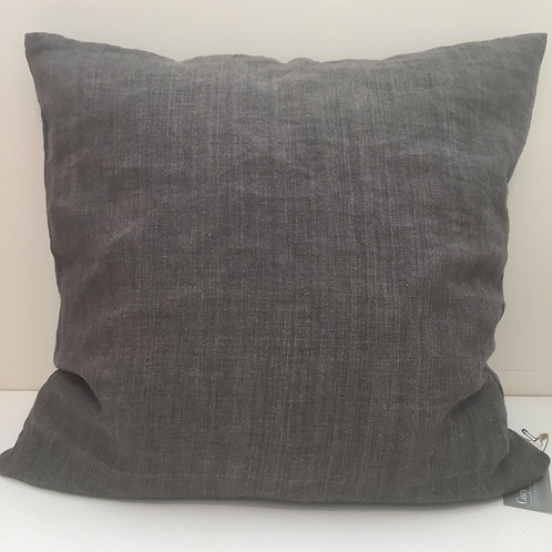 Linen cushion Kale