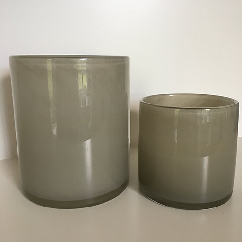 Lyric candleholder warm grey