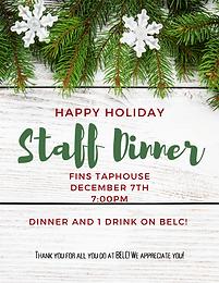 Staff Holiday Dinner