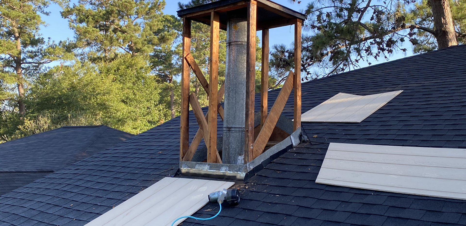 CHIMNEY BEING REPLACED