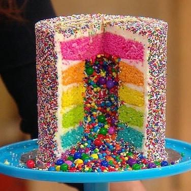 Rainbow Sprinkle Cake Decorating Class_e