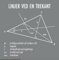 Linjer ved en trekant