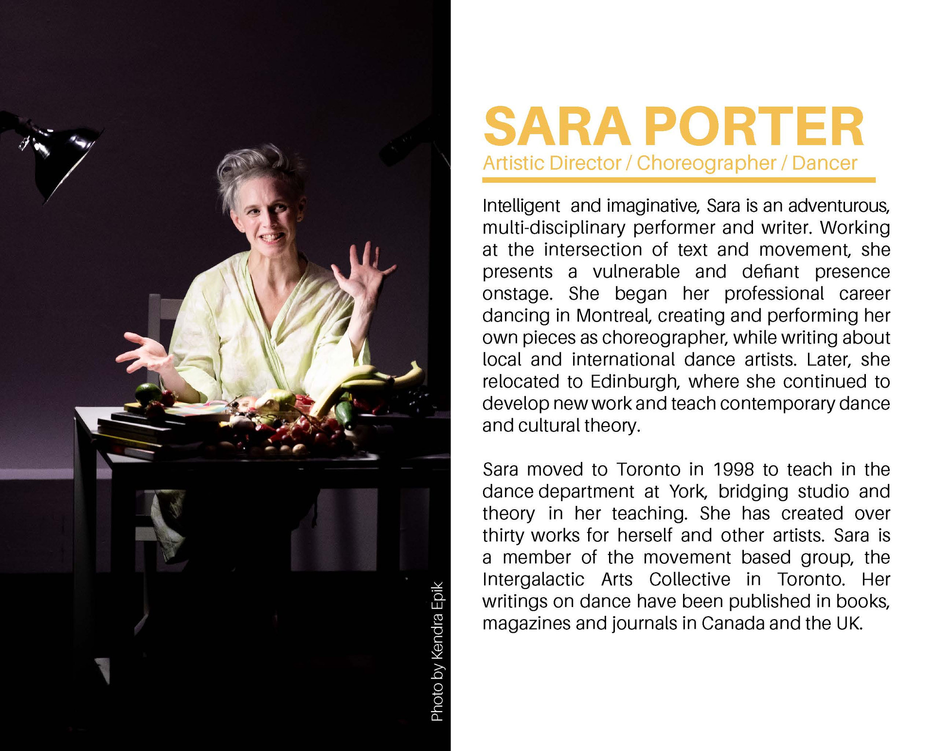 Sara Porter Getting to Know your Fruit E