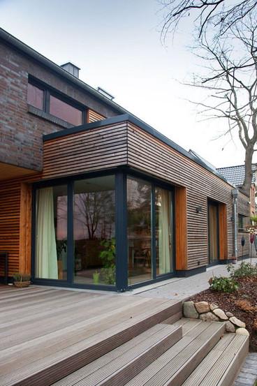Extension - bardage ajouré bois
