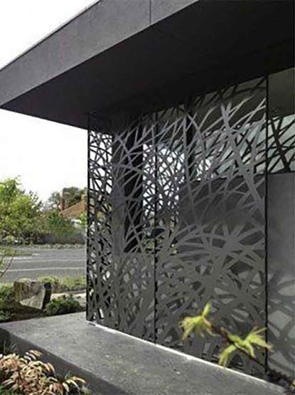 Panneaux brise-vue décoratifs en aluminium laqué
